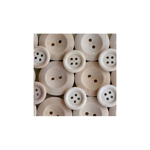 Maya Road - Wood Pieces - Natural Buttons