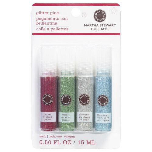 Martha Stewart Crafts - Christmas - Glitter Glue Pen Variety 4 Piece Set