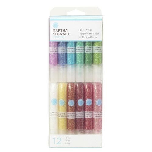 Martha Stewart Crafts - Iridescent Glitter Glue Pen Variety 12 Piece Set