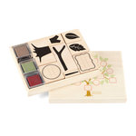 Martha Stewart Crafts - Vintage Collection - Rubber Stamp and Ink Set - Family Tree
