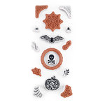 Martha Stewart Crafts - Halloween Collection - Cling Mounted Rubber Stamp Set - Haunted