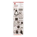 Martha Stewart Crafts - Cottage Christmas Collection - Cling Mounted Rubber Stamp Set - Cottage Christmas