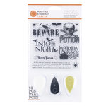 Martha Stewart Crafts - Classic Halloween Collection - Stamp and Ink Set