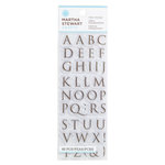 Martha Stewart Crafts - Clear Acrylic Stamps - Half Trojan Alphabet