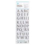 Martha Stewart Crafts - Clear Acrylic Stamps - Half Trojan Alphabet