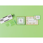 Martha Stewart Crafts - Stamp Around the Page - Clear Acrylic Stamps - Flourish and Leaves