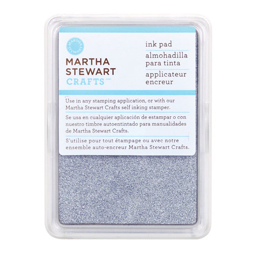 Martha Stewart Crafts - Archival Pigment Ink Pad - Sterling