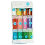 Martha Stewart Crafts - Fine Glitter Embellishment Variety - 12 Piece Set - Iridescent