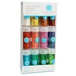 Martha Stewart Crafts - Tinsel Glitter Embellishment Variety - 12 Piece Set - Iridescent