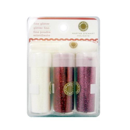 Martha Stewart Crafts - Valentine - Fine Glitter Embellishment Variety - 3 Piece Set