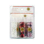 Martha Stewart Crafts - Valentine - Shaped Glitter Embellishment Variety - 3 Piece Set with Glue - Hearts