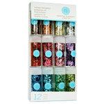 Martha Stewart Crafts - Chunky Glitter Embellishment Variety - 12 Piece Set - Vintage Leaf