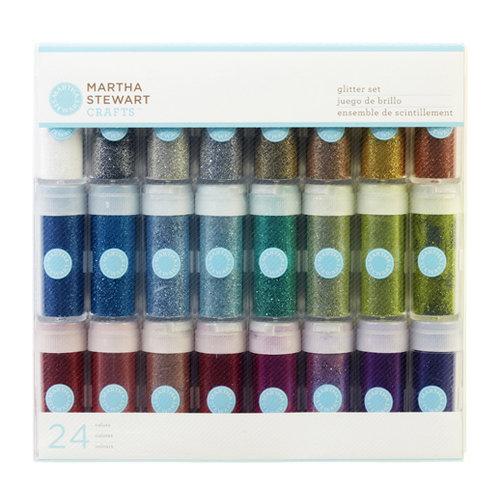 Martha Stewart Crafts - Fine Glitter Embellishment Variety - 24 Piece Set