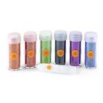 Martha Stewart Crafts - Halloween Collection - Fine Glitter Embellishment Variety - 6 Piece Set with Glue - Haunted