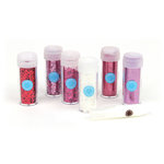 Martha Stewart Crafts - Valentine Collection - Glitter - 6 Piece Set with Glue