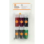 Martha Stewart Crafts - Gothic Manor Collection - Halloween - Glitter - 6 Piece Set with Glue