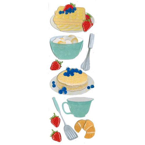 Martha Stewart Crafts - 3 Dimensional Glittered Stickers - Waffle Baking