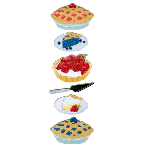 Martha Stewart Crafts - 3 Dimensional Glittered Stickers - Pie Baking