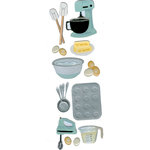 Martha Stewart Crafts - 3 Dimensional Stickers - Cake Mixer