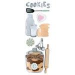 Martha Stewart Crafts - 3 Dimensional Glittered Stickers - Cookie Baking