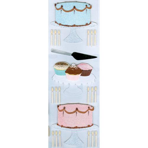 Martha Stewart Crafts - 3 Dimensional Glittered Stickers - Cake Baking