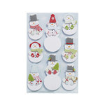Martha Stewart Crafts - Christmas - 3 Dimensional Stickers with Glitter Accents - Layered Snowman