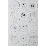 Martha Stewart Crafts - Doily Lace Collection - Layered Stickers with Gem Accents - Large Doily