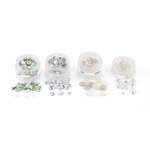 Martha Stewart Crafts - Doily Lace Collection - Embellishment Findings - White and Silver