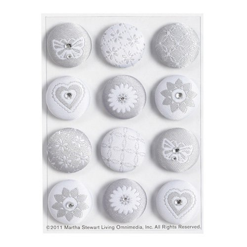 Martha Stewart Crafts - Doily Lace Collection - Fabric Brads