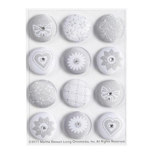 Martha Stewart Crafts - Doily Lace Collection - Fabric Brads