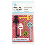 Martha Stewart Crafts - Modern Damask Collection - Embellishments - Key