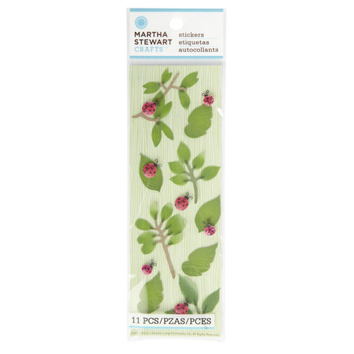 Martha Stewart Crafts - Stickers - Ladybugs and Leaves