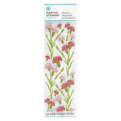 Martha Stewart Crafts - Layered Stickers - Carnations