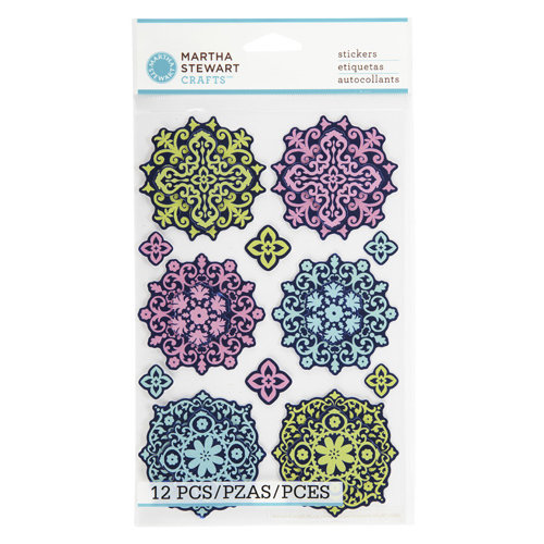 Martha Stewart Crafts - Modern Damask Collection - Layered Stickers - Ornament