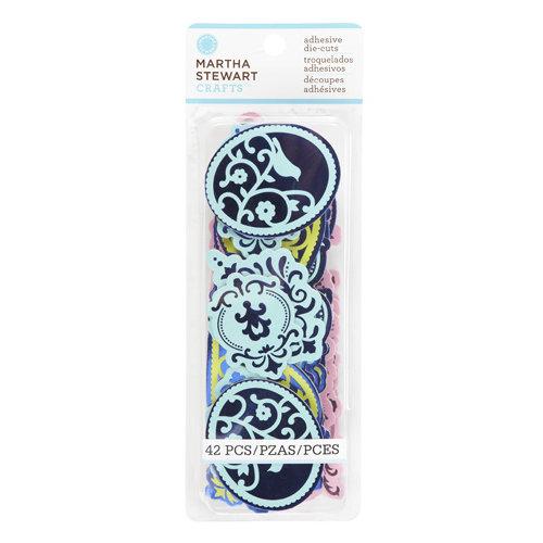Martha Stewart Crafts - Modern Damask Collection - Chipboard Stickers - Flourish