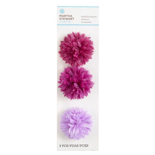 Martha Stewart Crafts - Stitched Collection - 3 Dimensional Fabric Stickers - Chrysanthemum