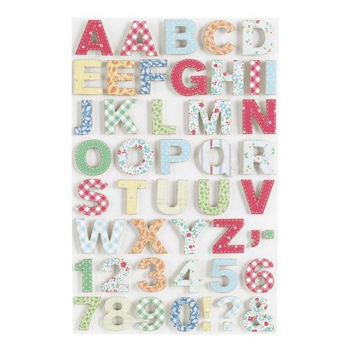 Martha Stewart Crafts - Stitched Collection - Fabric Stickers - Alphabet