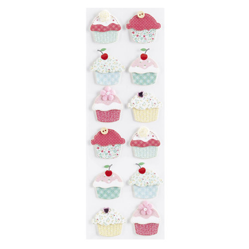 Martha Stewart Crafts - Stitched Collection - Stickers - Cupcake