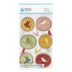 Martha Stewart Crafts - Vintage Collection - Stickers with Foil Accents - Heirloom Framed Bird