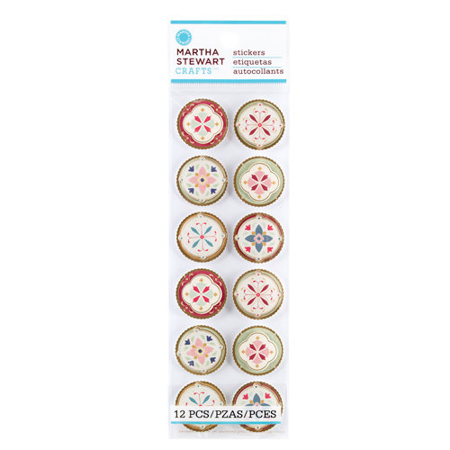 Martha Stewart Crafts - Vintage Collection - Stickers with Foil Accents - Heirloom Medallion