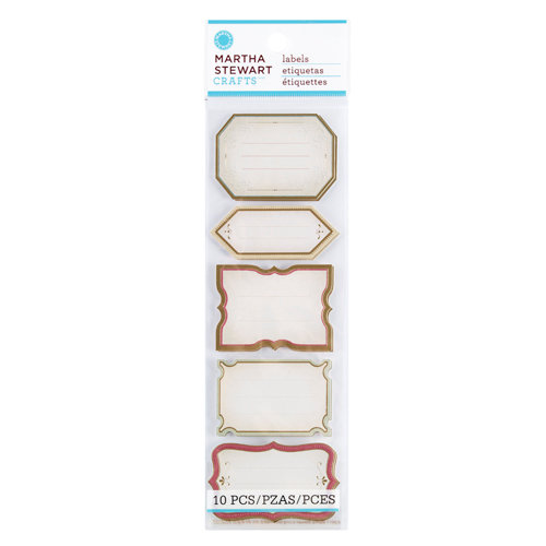 Martha Stewart Crafts - Vintage Collection - Self Adhesive Labels - Heirloom
