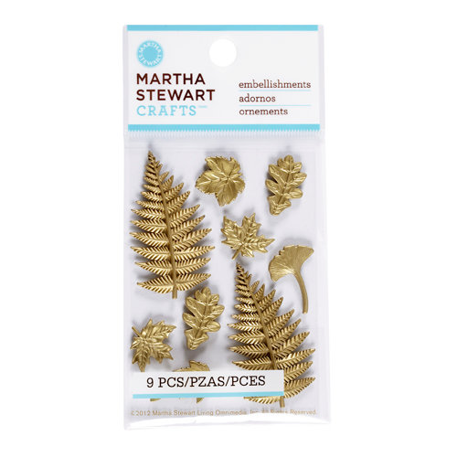 Martha Stewart Crafts - Vintage Collection - Metal Embellishments - Heirloom Leaf