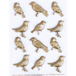 Martha Stewart Crafts - Vintage Collection - Metal Embellishments - Heirloom Bird