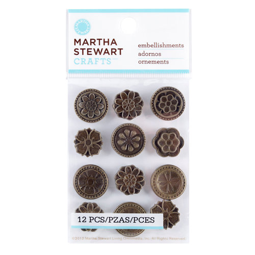 Martha Stewart Crafts - Vintage Collection - Metal Embellishments - Heirloom Medallion