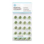 Martha Stewart Crafts - Bling - Gemstone Stickers - Mini Metallic Leaves