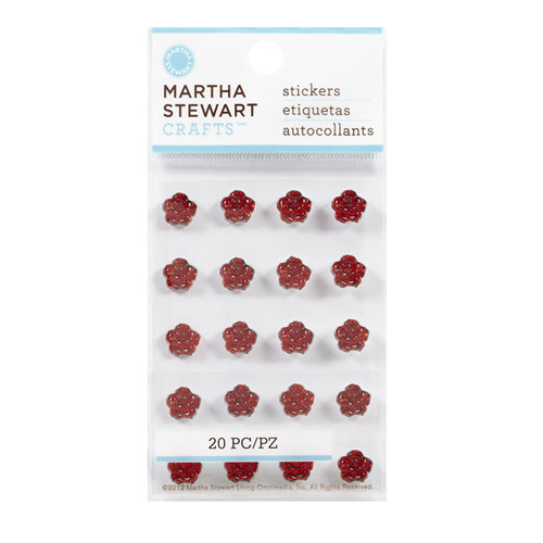 Martha Stewart Crafts - Bling - Gemstone Stickers - Mini Metallic Roses