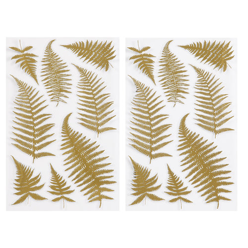 Martha Stewart Crafts - Stickers with Foil Accents - Elegant Nature Ferns