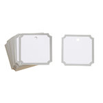 Martha Stewart Crafts - Tags with Foil Accents - Notched Square