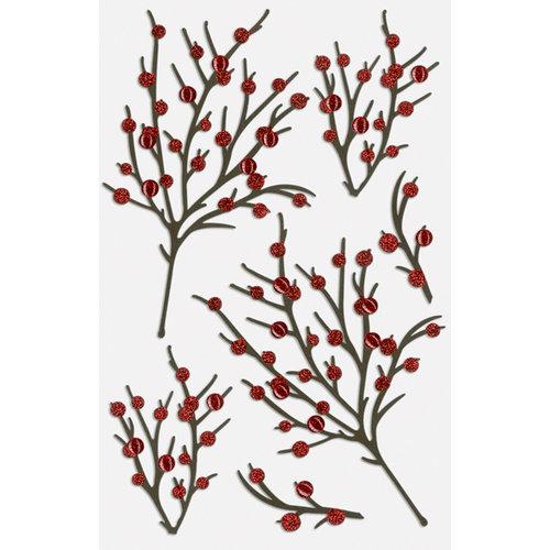 Martha Stewart Crafts - Stickers with Glitter Accents - Berry Branch