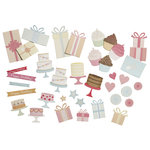 Martha Stewart Crafts - Modern Festive Collection - Chipboard Die Cuts - Presents and Icons
